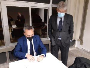 Andrea_Moretti_Presidente_Ferrara_Fiere_Alessandro Ambrosi_Presidente_Fiera_Levante_Bari